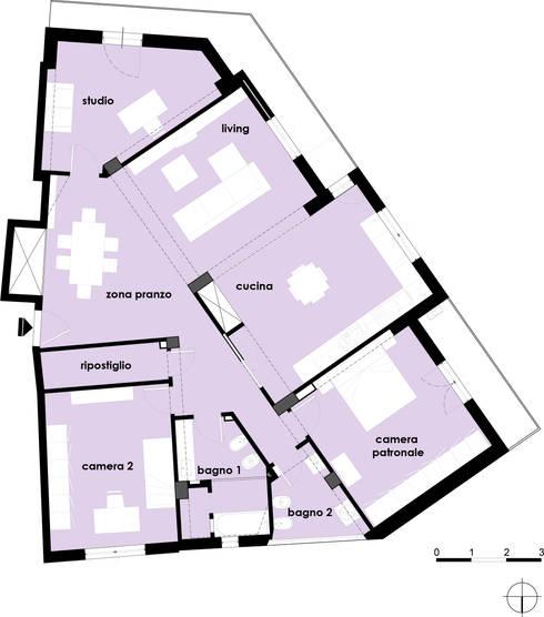 Casa M: Case in stile  di tizianavitielloarchitetto