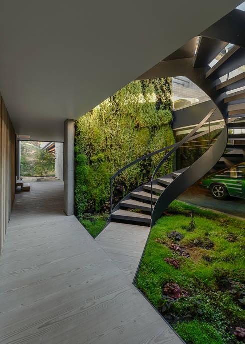 Pasillos y hall de entrada de estilo  por guedes cruz arquitectos