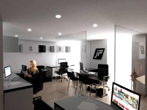 Oficinas Constructora Ibagué: Estudios y despachos de estilo moderno por Jorge Osorio Arquitecto