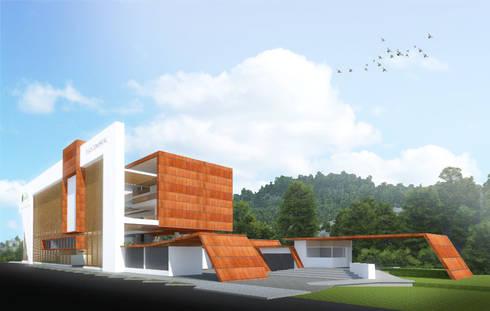 Centro comercial: Centros comerciales de estilo  por Jorge Osorio Arquitecto