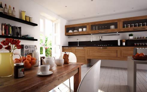 Breakfast is on the table: Cozinhas rústicas por 3DYpslon