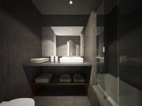 Bathroom Proposal: Hotéis  por 3DYpslon