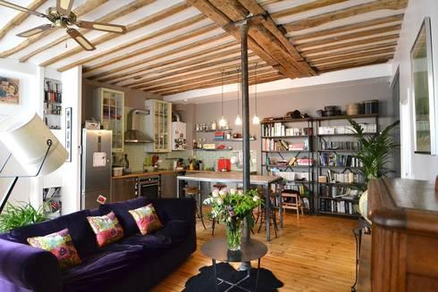 R novation d 39 un loft contemporain et industriel par - Loft industriel design eclectique reiko feng shui ...