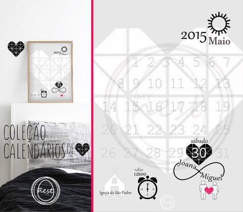 """Calendário """"Save the date"""" - """"Save the date"""" Calendar: Casa  por MyNest"""
