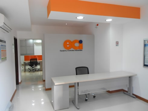 OFICINAS REGIONAL CALI ECI (EQUIPOS Y CONTROLES INDUSTRIALES):  de estilo  por ARQUITECTONI-K Diseño + Construcción SAS