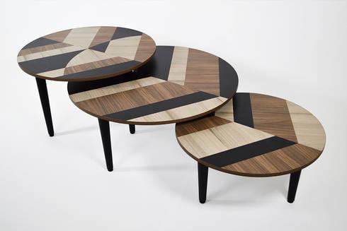 MESAS LEAVES by APOTEMA ESTUDIO: Salas de estilo minimalista por APOTEMA Estudio de Diseño