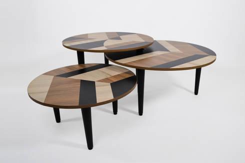 MESAS LEAVES by APOTEMA ESTUDIO: Salas de estilo moderno por APOTEMA Estudio de Diseño