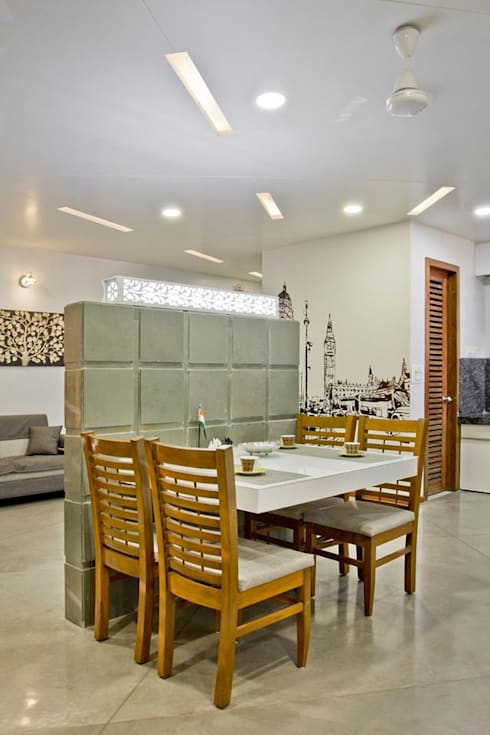 SPARSH: modern Dining room by PADARRPAN ARCHITECTS