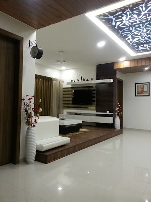SURYAM: modern Living room by PADARRPAN ARCHITECTS