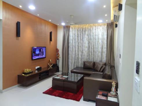 Mr.Gunjan Sharma: modern Living room by UNIQUE DESIGNERS & ARCHITECTS