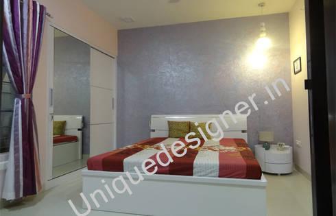 Mr.Gunjan Sharma: modern Bedroom by UNIQUE DESIGNERS & ARCHITECTS