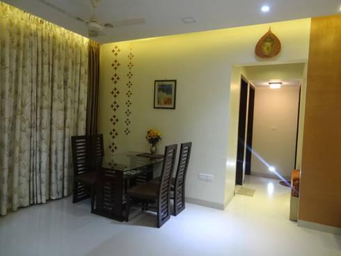 Mr.Gunjan Sharma: modern Dining room by UNIQUE DESIGNERS & ARCHITECTS