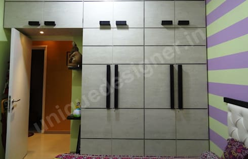 Mr. Arjit Sarkar: modern Bedroom by UNIQUE DESIGNERS & ARCHITECTS