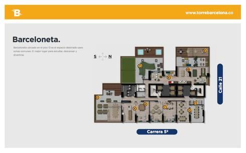 Torre Barcelona: Estudios y despachos de estilo moderno por HMA Desarrolladores De Proyectos