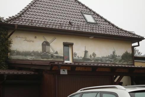 historisches wandbild schwarz weis sepia von wandgestaltung graffiti airbrush von appolloart. Black Bedroom Furniture Sets. Home Design Ideas