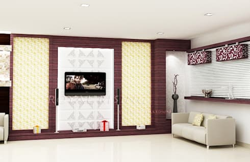 Living Area Designs: modern Living room by Royal Rising Interiors