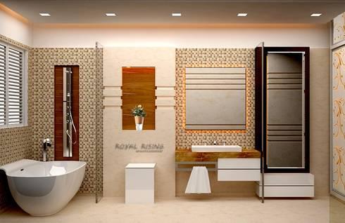 Interior Designs: modern Bathroom by Royal Rising Interiors