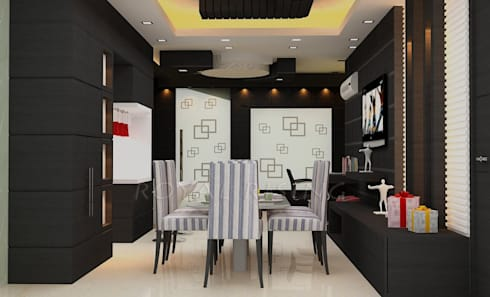 Interior Designs: modern Dining room by Royal Rising Interiors