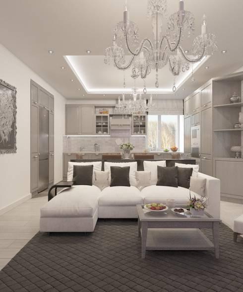Salas de estar clássicas por Студия дизайна Виктории Силаевой