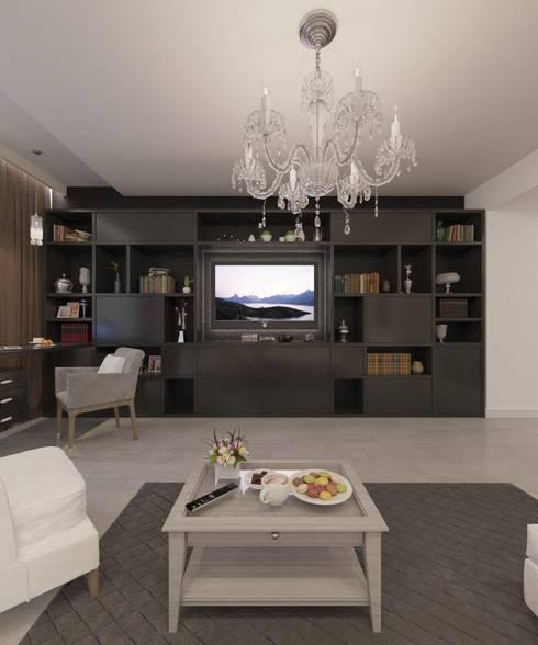 غرفة المعيشة تنفيذ Студия дизайна Виктории Силаевой