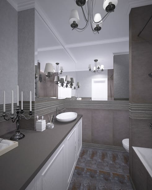 industrial Bathroom by Студия дизайна Виктории Силаевой