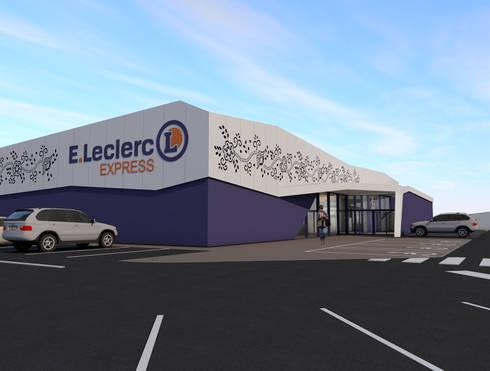 ELECLERC EXPRESS Viana do Castelo:   por C & C architects  - ARQUITECTURA E SERVIÇOS