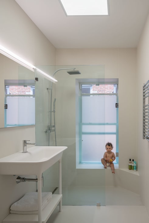 472 Greenwich st, NYC: Baños de estilo  de ImagenSubliminal