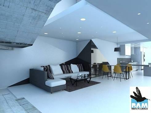 Arquitectura: Salas / recibidores de estilo minimalista por Estudio BAM