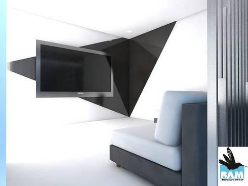 Arquitectura: Salas de entretenimiento de estilo minimalista por Estudio BAM