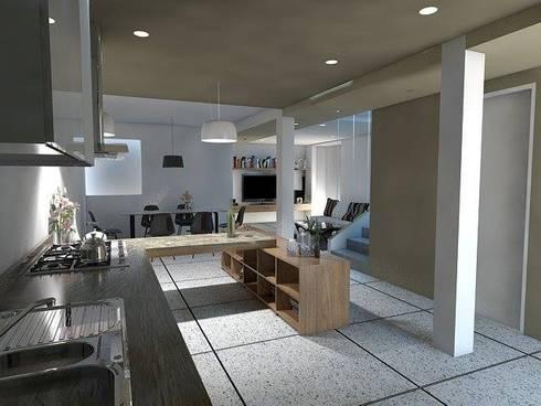 Arquitectura: Cocinas de estilo minimalista por Estudio BAM