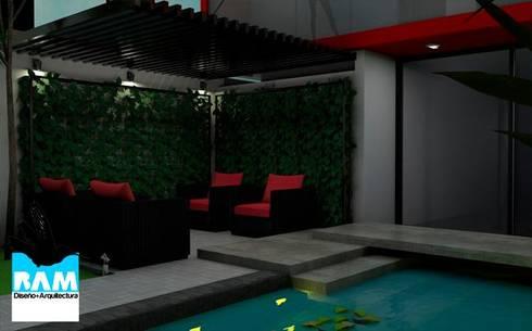 Proyecto de casa: Terrazas de estilo  por Estudio BAM
