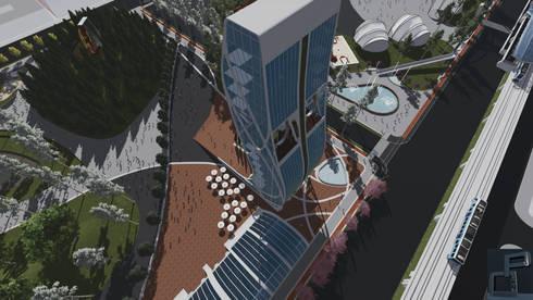 CN 1 : Espacios comerciales de estilo  por Arquitecto Pedro Ojeda