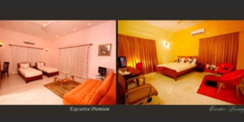 Emensee Suites: modern Bedroom by EXOTIC FURNITURE AND INTERIORS