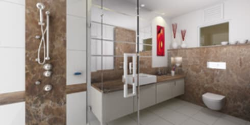 Bathroom Designs: modern Bathroom by EXOTIC FURNITURE AND INTERIORS