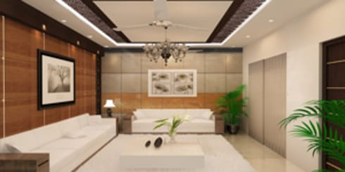 Drawing Room : modern Living room by EXOTIC FURNITURE AND INTERIORS