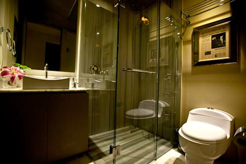 Departamento en Santa Fe: Baños de estilo  por MAAD arquitectura y diseño