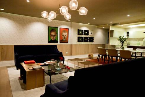 Departamento en Santa Fe: Salas de estilo ecléctico por MAAD arquitectura y diseño