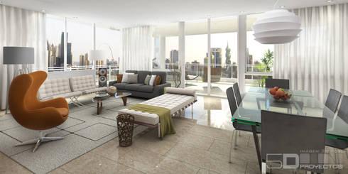 Sala:  de estilo  por 5D Proyectos