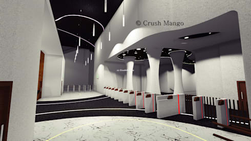 Commercial Interiors: modern Study/office by Crush Mango