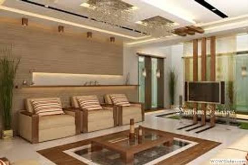 Living area designs de pancham interiors homify for Living room designs bangalore