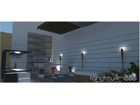 PROPUESTA DE ARQUITECTURA REMODELACION DE ESPACIO SOCIAL DE VIVIENDA UNIFAMILIAR: Terrazas de estilo  por RAVM Arquitecto