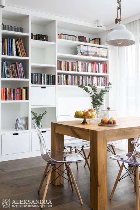 jadalnia: styl , w kategorii Jadalnia zaprojektowany przez ALEKSANDRA interior design studio