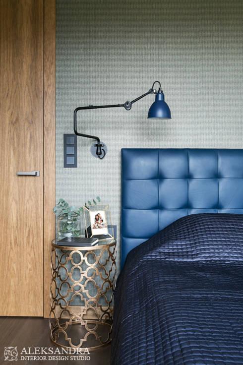 sypialnia: styl , w kategorii Sypialnia zaprojektowany przez ALEKSANDRA interior design studio