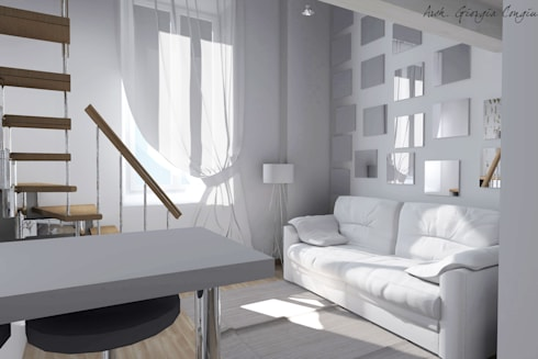 Progetto arredamento di interni mini appartamento di arch for Arredamento appartamento moderno