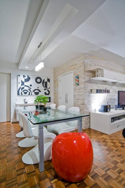 Comedores de estilo  por Patrícia Azoni Arquitetura + Arte & Design