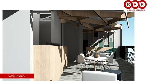 Cafetería: Edificios de Oficinas de estilo  por Tres-r