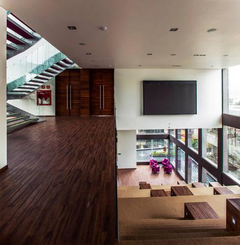 Colegio de la Imagen Publica: Salas multimedia de estilo moderno por Serrano Monjaraz Arquitectos