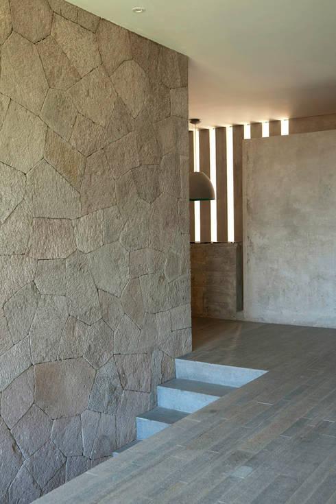 Casa L : Pasillos y recibidores de estilo  por Serrano Monjaraz Arquitectos