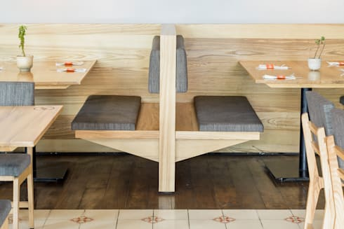 PANE: Restaurantes de estilo  por NIVEL TRES ARQUITECTURA