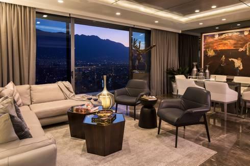 FUENTES / TRENDO: Salas de estilo moderno por Idea Cubica